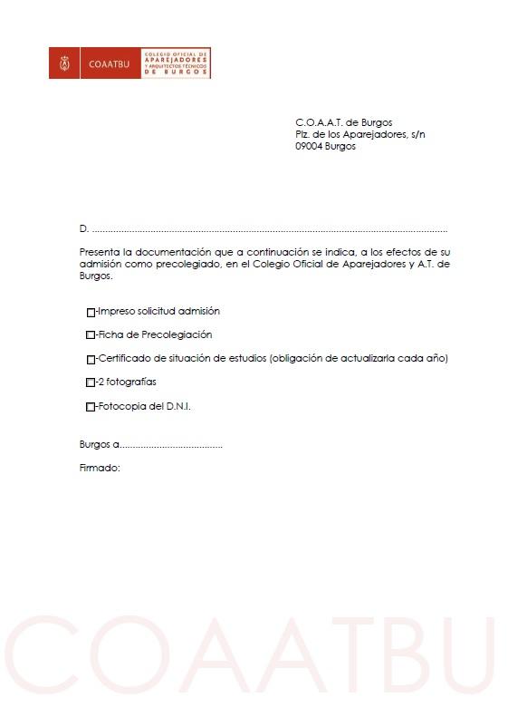 Documentación presentada